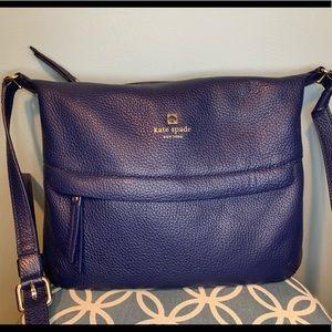 Kate Spade navy blue leather crossbody